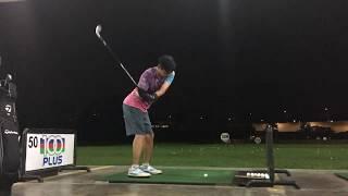初心者ゴルフ 前倒しを大げさにやりすぎてなんか変なスイング thumbnail