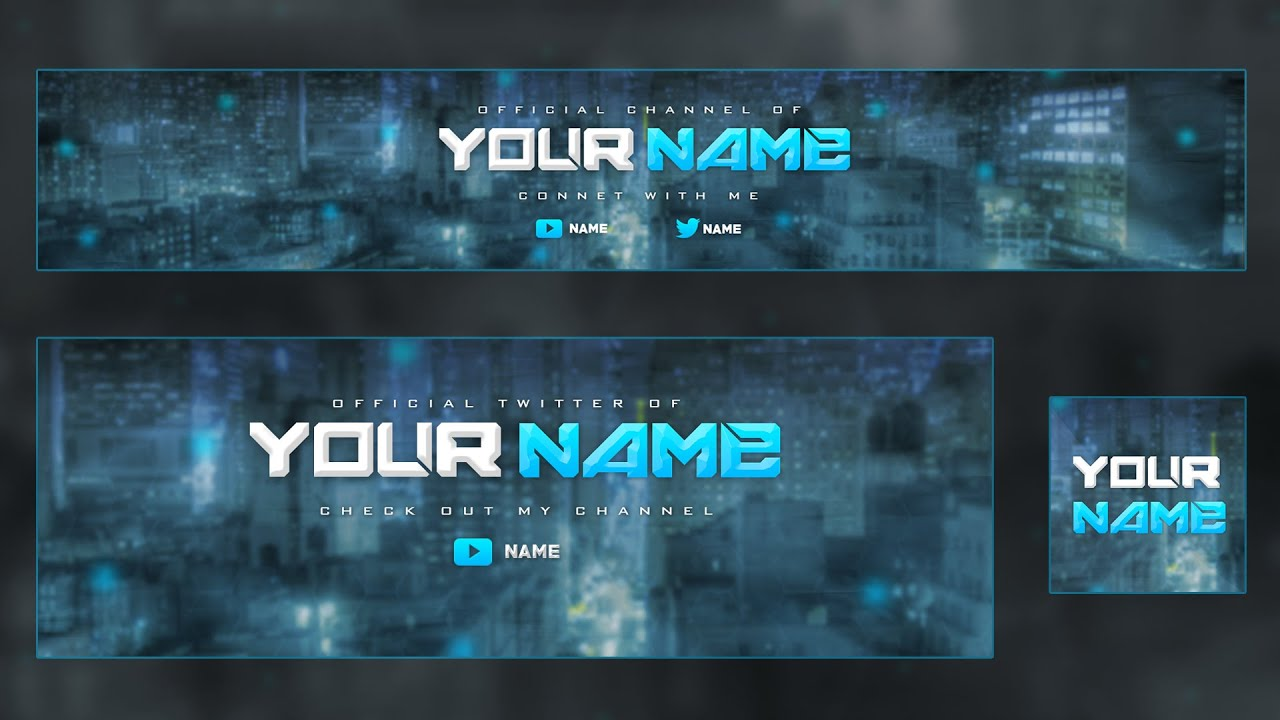 youtube banner template psd free download
