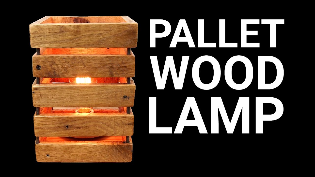 How To Make A Pallet Wood Lamp Youtube