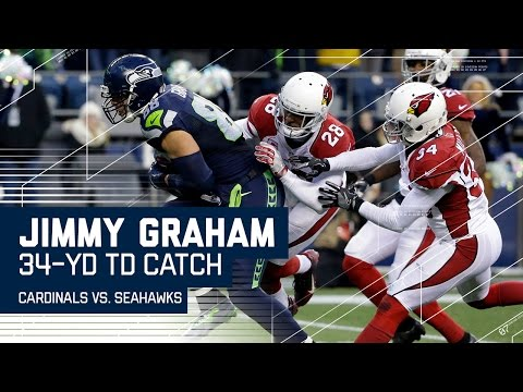Jimmy Graham Rumbles Down the Field for a Huge TD! | Cardinals vs. Seahawks | NFL Week 16 Highlights
