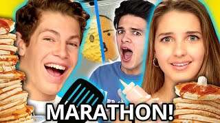 Crazy PANCAKE ART CHALLENGE w/ Lexi Rivera, Brent Rivera, Ben Azelart, & MORE! | Griddle Me This