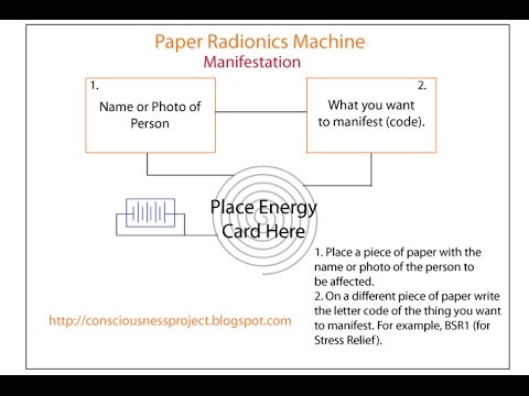 How to Use Manifestation Paper Radionics Machine for Manifes