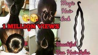 Einfach Bun Frisuren für Lange Haare | Made by Magic hair lock | One-minute-Frisuren