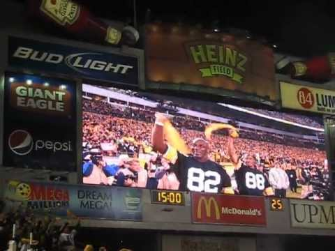 Lynn Swann and John Stallworth lead the Terrible Towel wave at Heinz Field