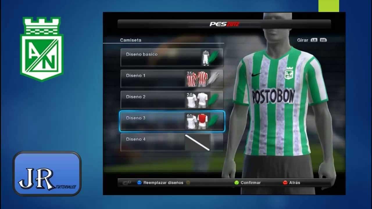 Uniforme 2014 Atletico Nacional PES 12-13-14 by JR Tutoriales - YouTube 3cde229173649