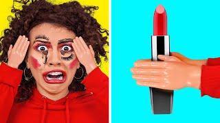 TANTANGAN TANGAN MUNGIL 24 JAM || Make-up Pakai Tangan Mungil? KACAU! Komedi oleh 123 GO! CHALLENGE