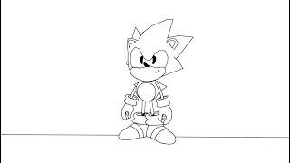 Sonic CD HD Animación de Inactividad y la Muerte
