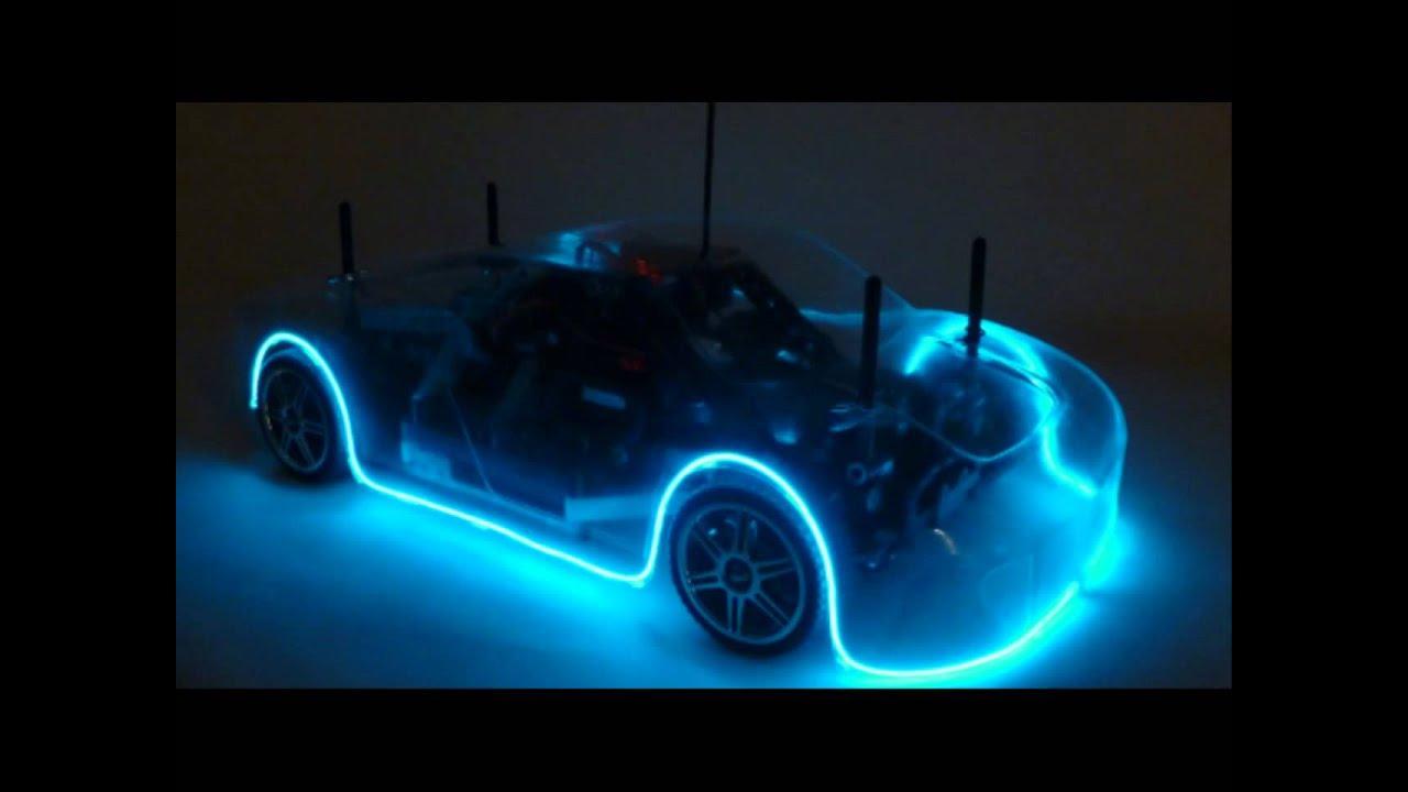 Neon Car Lights: Neon Light Race Car