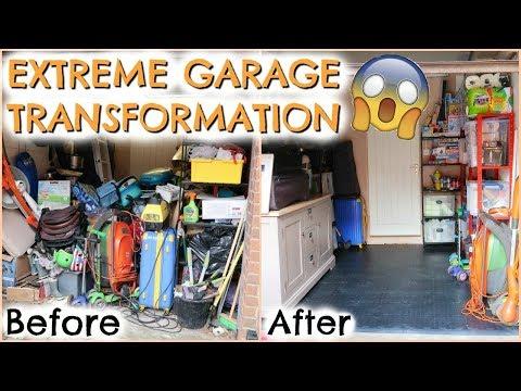 EXTREME GARAGE TRANSFORMATION   DECLUTTER + KONMARI     GARAGE TOUR