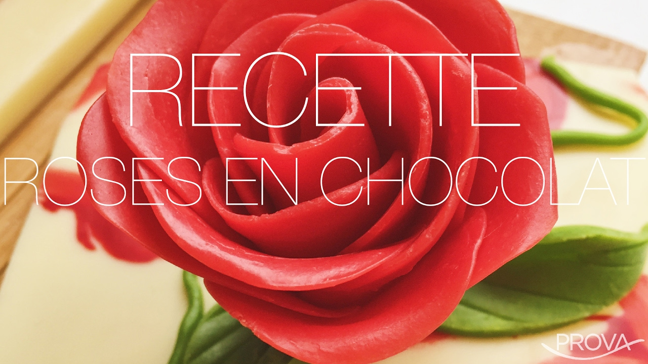 Roses En Chocolat Recette Saint Valentin Youtube