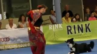 Dog dancing Gypsy.Пёс танцует цыганочку вместе с хозяйкой.#Конкурс_с_собаками#/