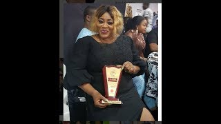 See The Beautiful Dress Ayo Adesanya Wore To Collect Award See The Little Dancers Performance