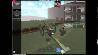 ROBLOX THE SERIES: THE WWI ARTILLERY SQUAD!!!!!! [Part 1]