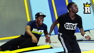 KSI vs. TBJZL: TOBI'S EPIC OVERHEAD KICK - Trampoline Football | Rule'm Sports(KSIOlajidebt & Tobjizzle take to the trampolines to show off their football skills and take each other on in an EPIC shootout! Next video TRAMPOLINE SLAM ..., 2015-09-13T17:00:01.000Z)