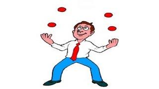 Жонглирование 4 мячами ч.4