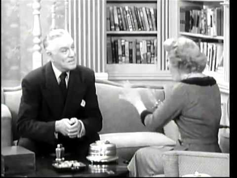 THE GEORGE BURNS and GRACIE ALLEN SHOW    The Iron Deer  4th Season Premiere ) with Joseph Kearns