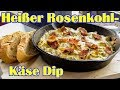 Heißer Rosenkohl-Käse Dip