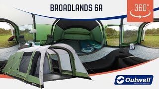 Outwell Broadlands 6A Air Tent - 360 video (2019)