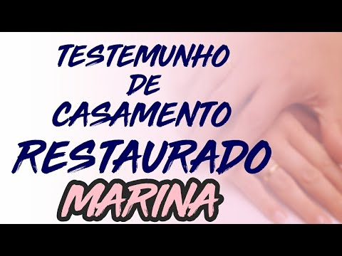 Testemunho de casamento restaurado - Marina