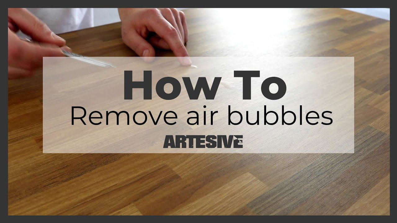 How To Remove Any Air Bubble After