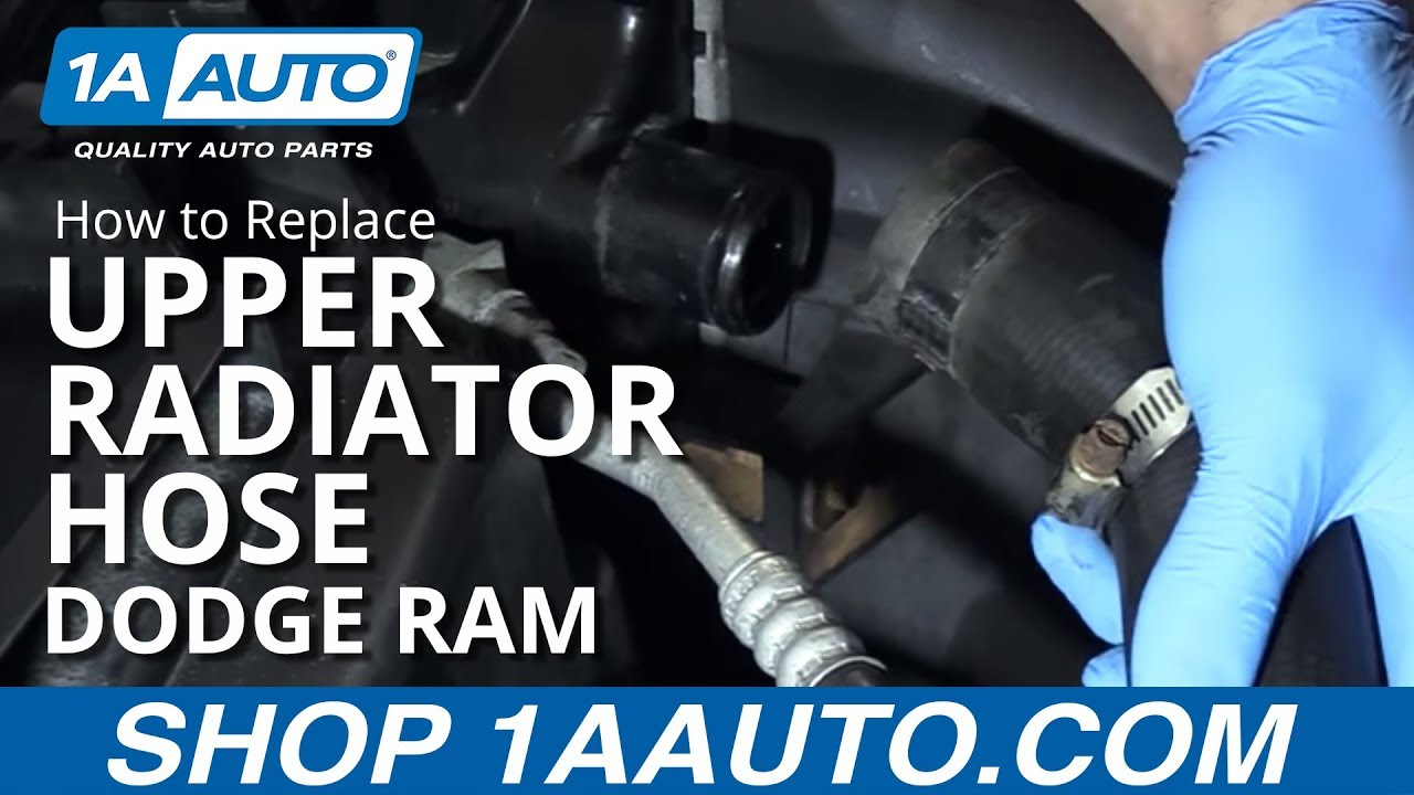 How To Replace Upper Radiator Hose 02 08 Dodge Ram Youtube