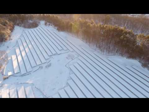 Amps Electric, Inc Hudson 5.83 MW Solar Project Drone Video 1/8/2017