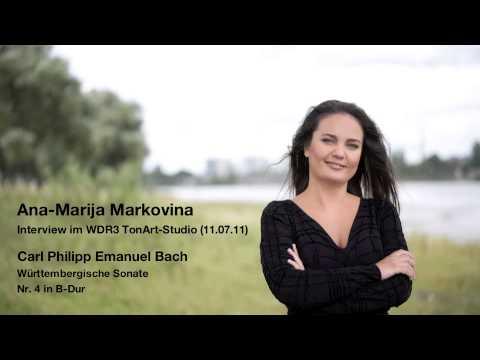 Ana-Marija Markovina im Interview mit WDR3 TonArt