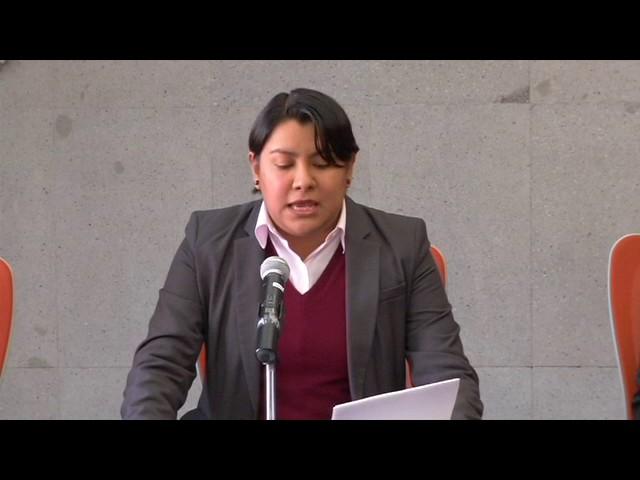 Palabras de la Dra Perla Gómez en la Presentación de las Recomendaciones 14 y 152016