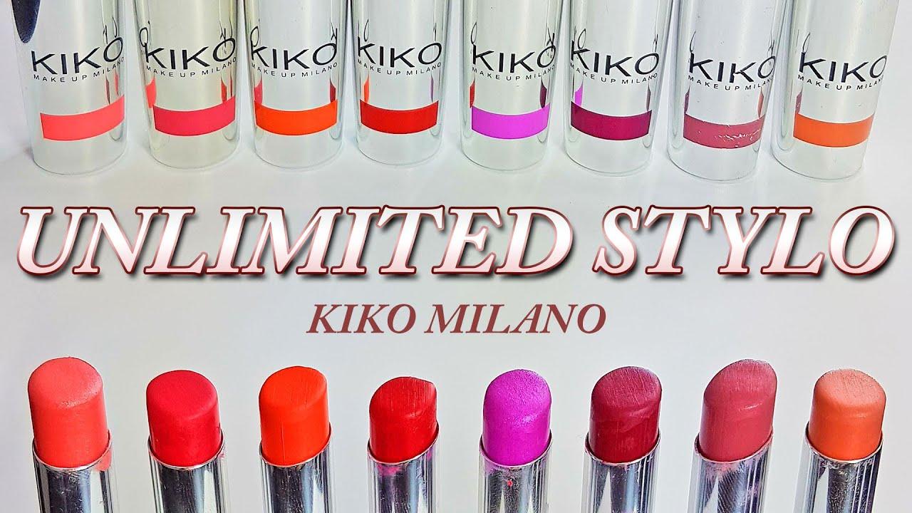Unlimited Stylo Kiko Milano 8 Shades Youtube