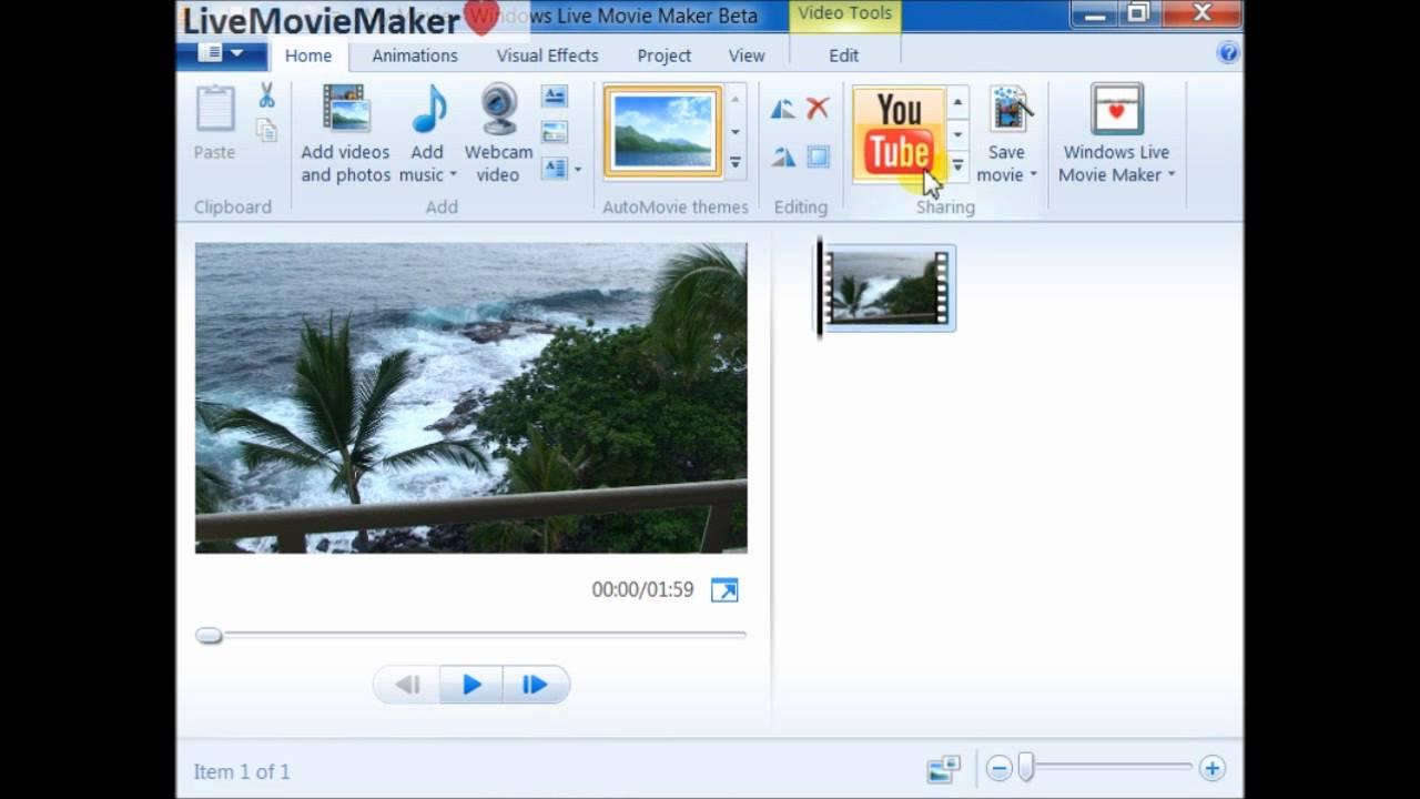 windows live movie maker tutorial  5  upload 720p  1080p hd