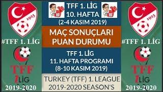 TFF 1 LİG 10 HAFTA MAÇ SONUÇLARI PUAN DURUMU 11 HAFTA PROGRAMI 19 20 TFF 1 League Week 10