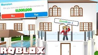 SELLING MY 'MILLION' DOLLAR MANSION!! (Roblox Bloxburg)