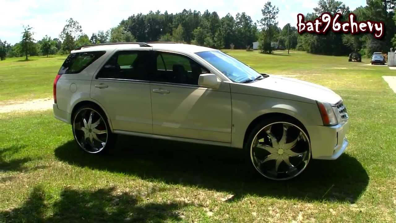 Pearl White Cadillac Srx Truck On 28 Quot Starr Wheels Pt 1