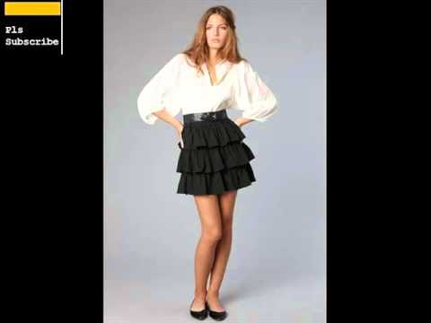 Black Ruffle Skirt For Woman | Skirts Samples For Ladies Romance ...