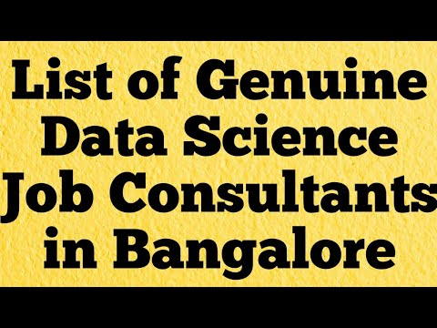 List of Genuine Data Science Job Consultants in Bangalore