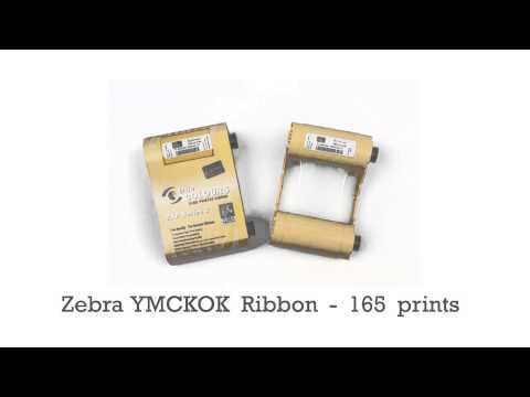 Zebra YMCKOK ribbon - 165 prints for ZXP 3 series