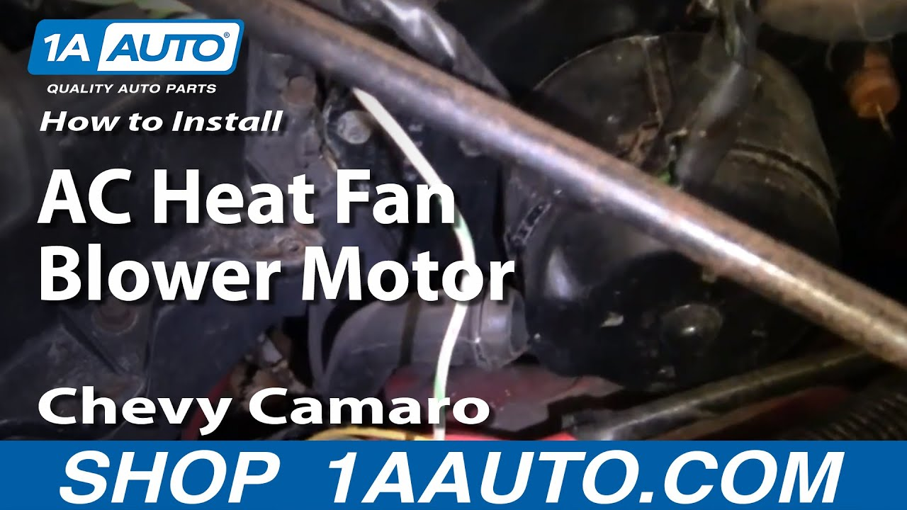 maxresdefault how to install replace ac heat fan blower motor 82 92 chevy camaro 4th Gen Camaro at n-0.co