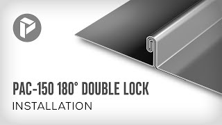 Metal Roofing - How to install PAC-150 180° Double Lock