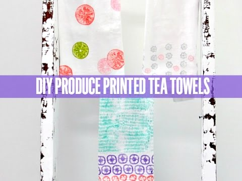 craftable diy produce printed tea towels youtube