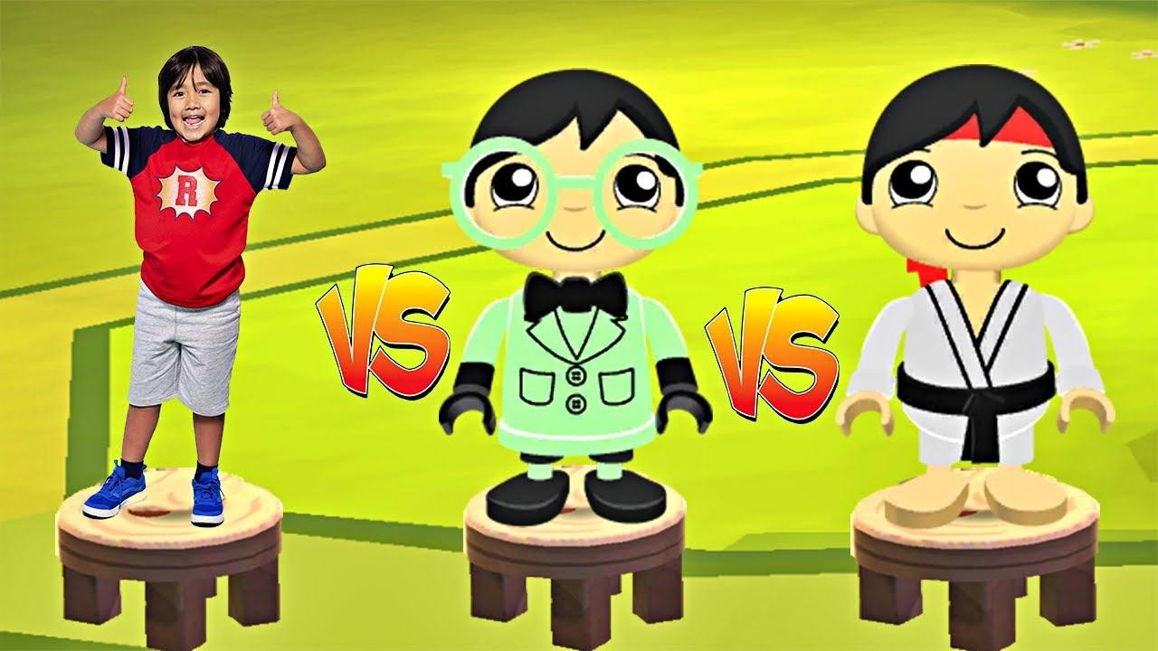 Tag With Ryan - Doctor Ryan vs Karate Ryan vs Cobalt Robo-Ryan - All Characters Unlocked
