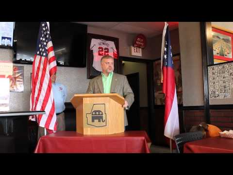 Representative Micah Gravley Addresses The Paulding County Republican Party