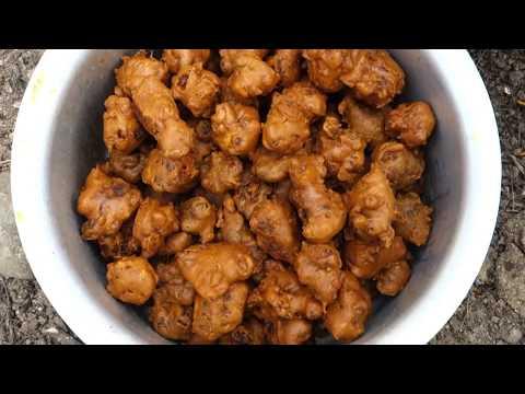 Cauliflower Bonda Recipe   Grandpa Cooking in My Village   VILLAGE FOOD