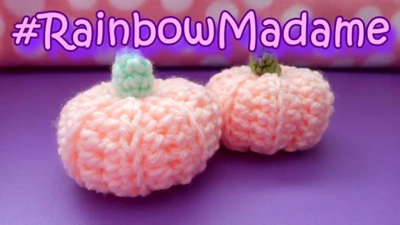 Diy Mini Crochet Pumpkin Tutorial Youtube
