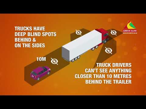 Be Cautious in Blind spots around Trucks