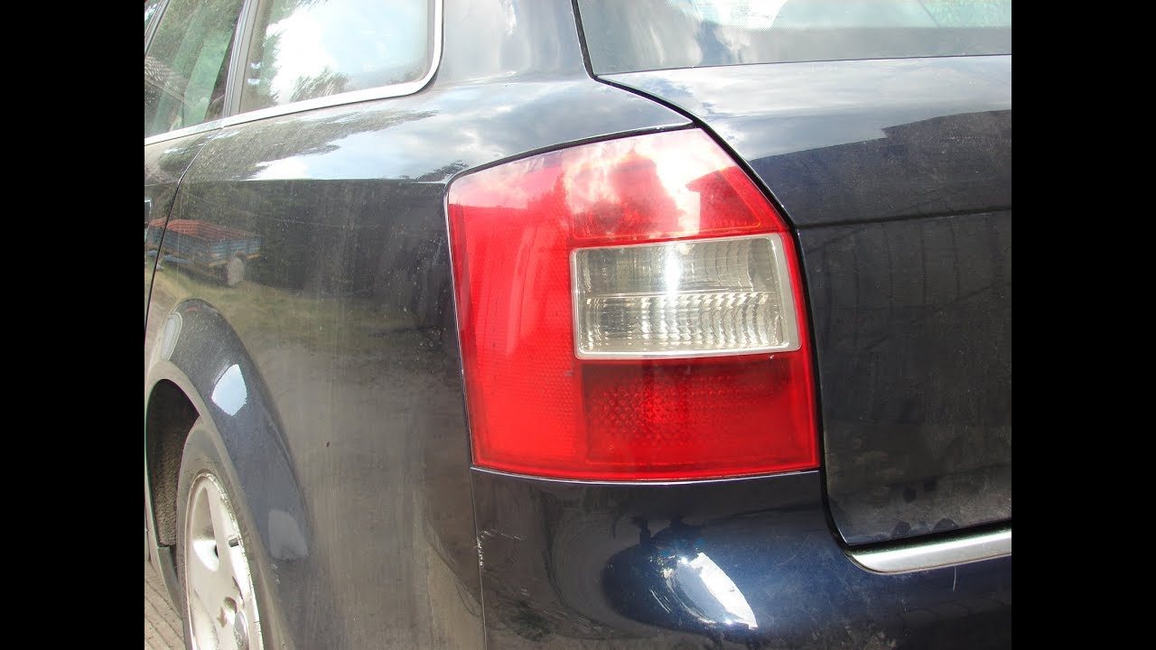 Audi A4 B6 Wymiana żarówki Tylnia Lewa Lampa Krok Po Kroku Youtube