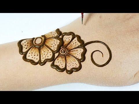 सुंदर मेहँदी डिज़ाइन लगाने का नया तरीका - Easy Beautiful Mehndi designs full hand step by step
