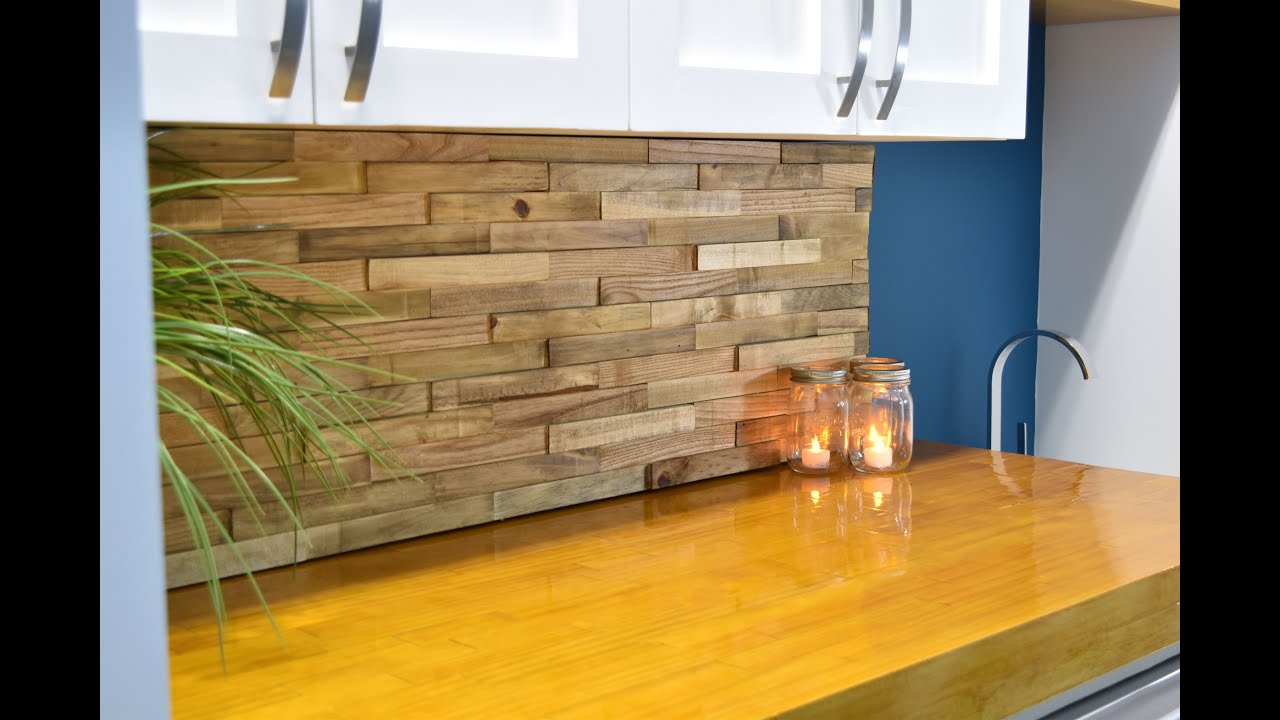 Pallet Wood Backsplash Backsplash From Reclaimed Pallets Diy Build Youtube