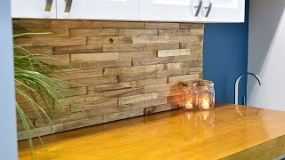 Backsplash From Reclaimed Pallets | DIY Build