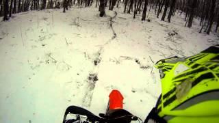 видео Снегокат Hamax Sno Blade синий