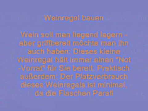 Weinregal und w inkisten wandregal bauen youtube for Weinkisten wandregal